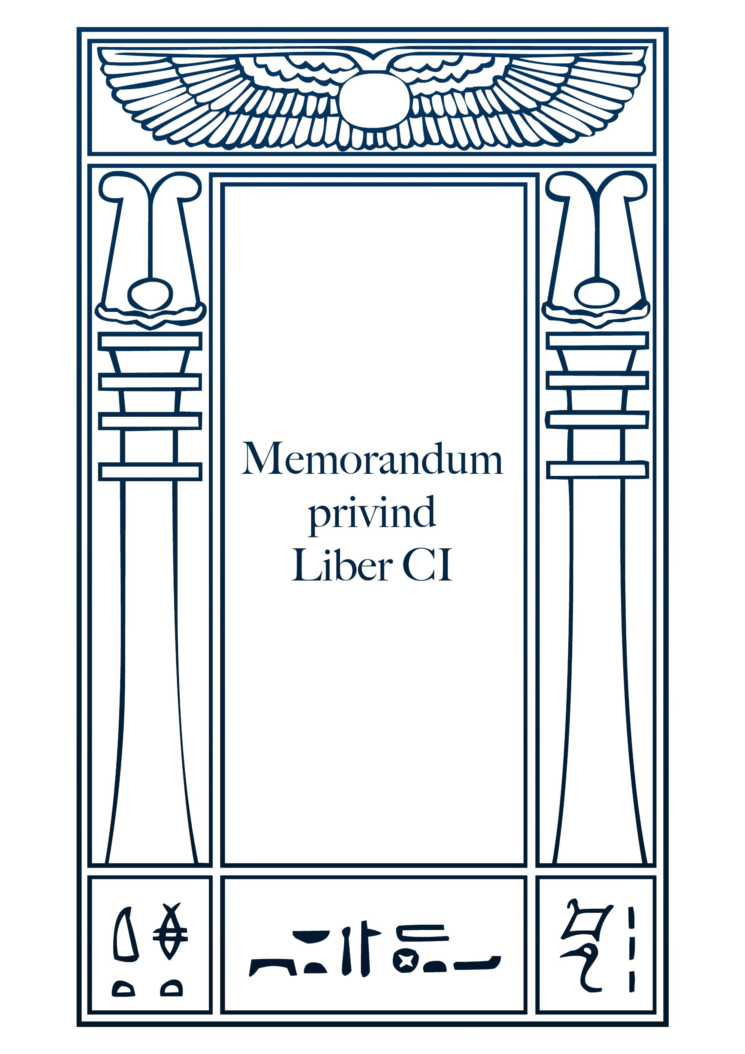 Memorandum privind Liber CI