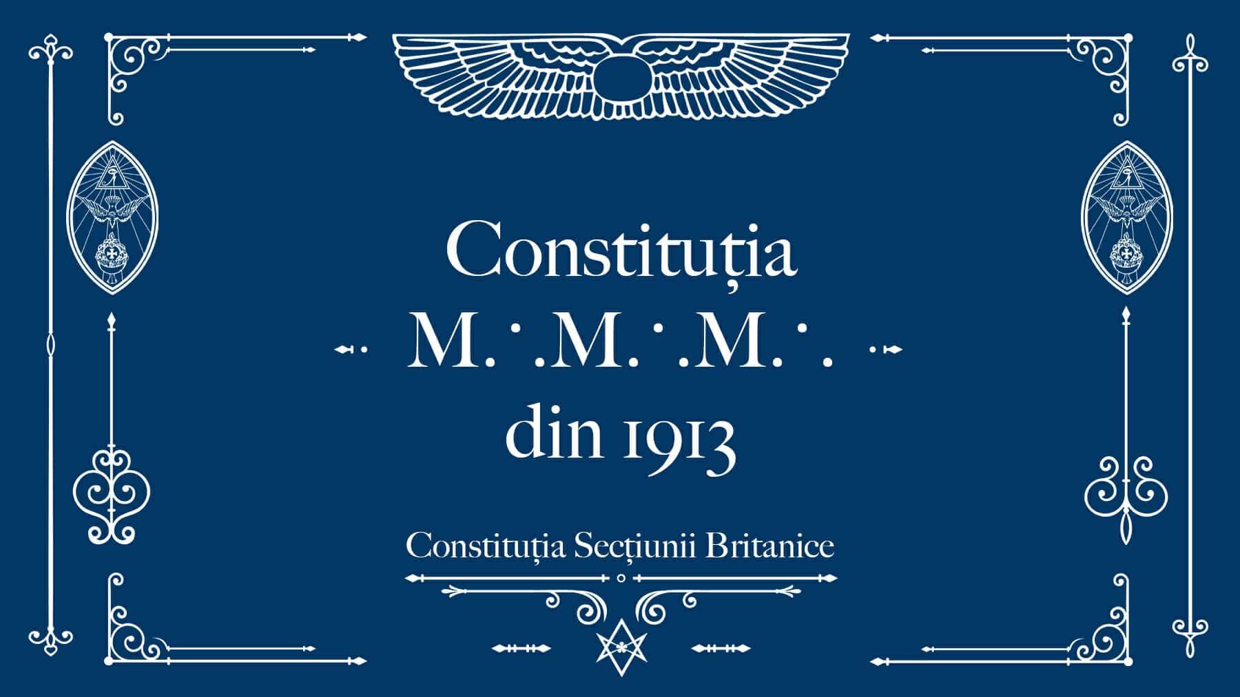 Constituția M∴M∴M∴ din 1913